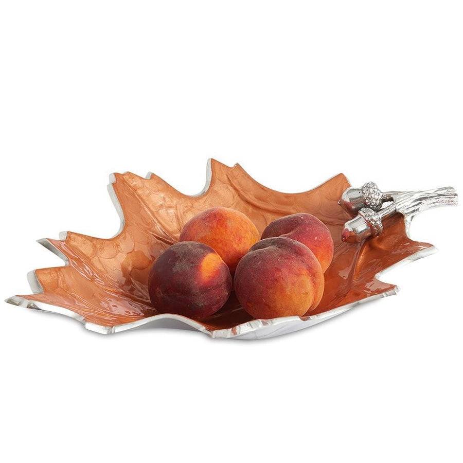 "Julia Knight Oak Leaf 15"" Bowl in Spice"