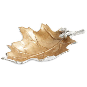 "Julia Knight Oak Leaf 13"" Bowl in Toffee"