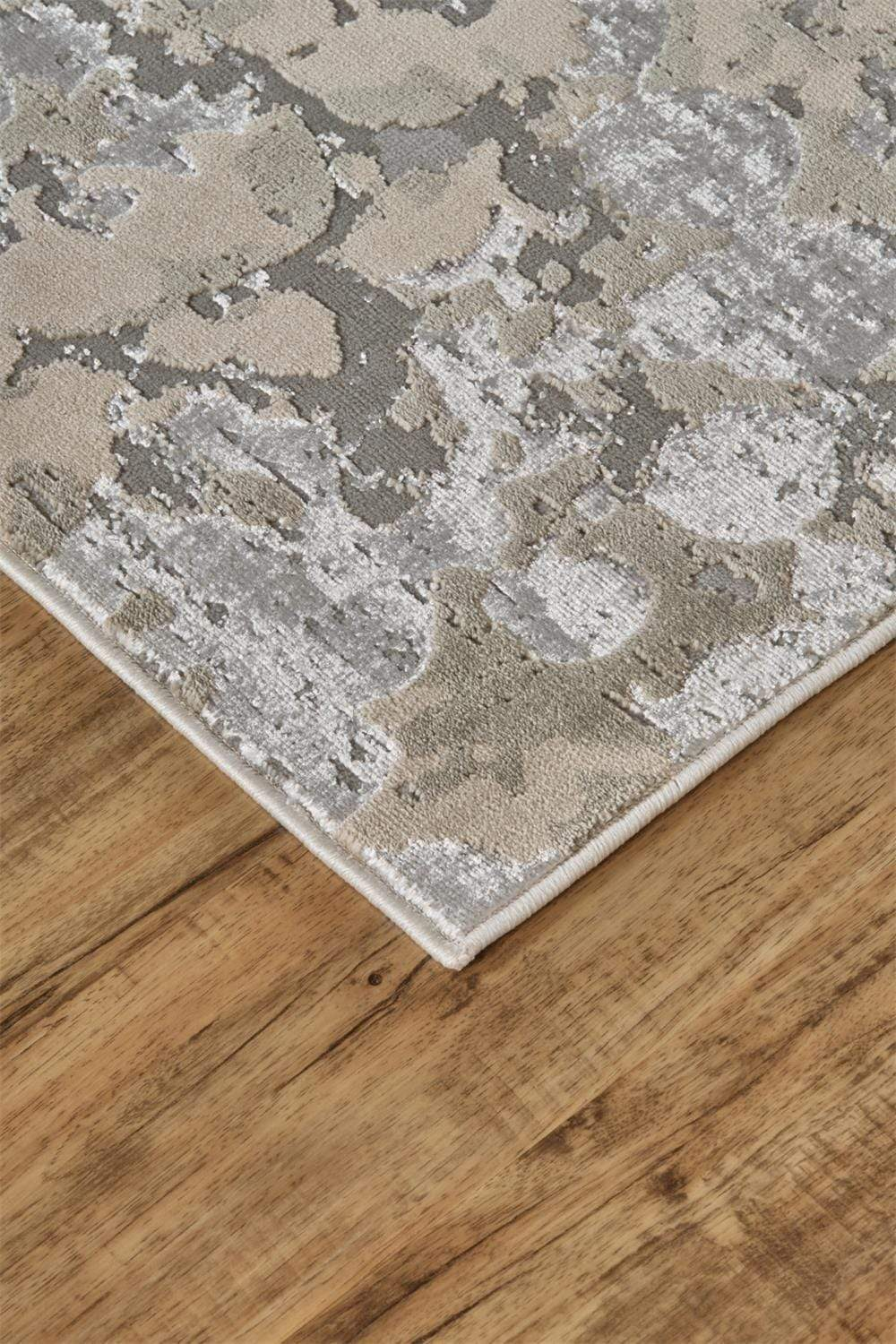 "Feizy Feizy Home Micah Rug - Silver/Gray 1' 8"" x 2' 10"" 6943336FSLVGRYP18"