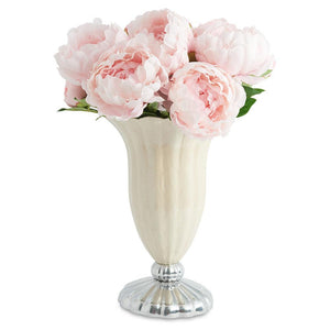 "Julia Knight Peony 15"" Pure Color Vase in Snow"