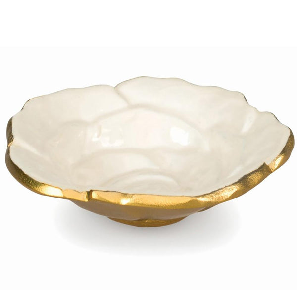 "Rose 4"" Petite Bowl in Gold Snow"
