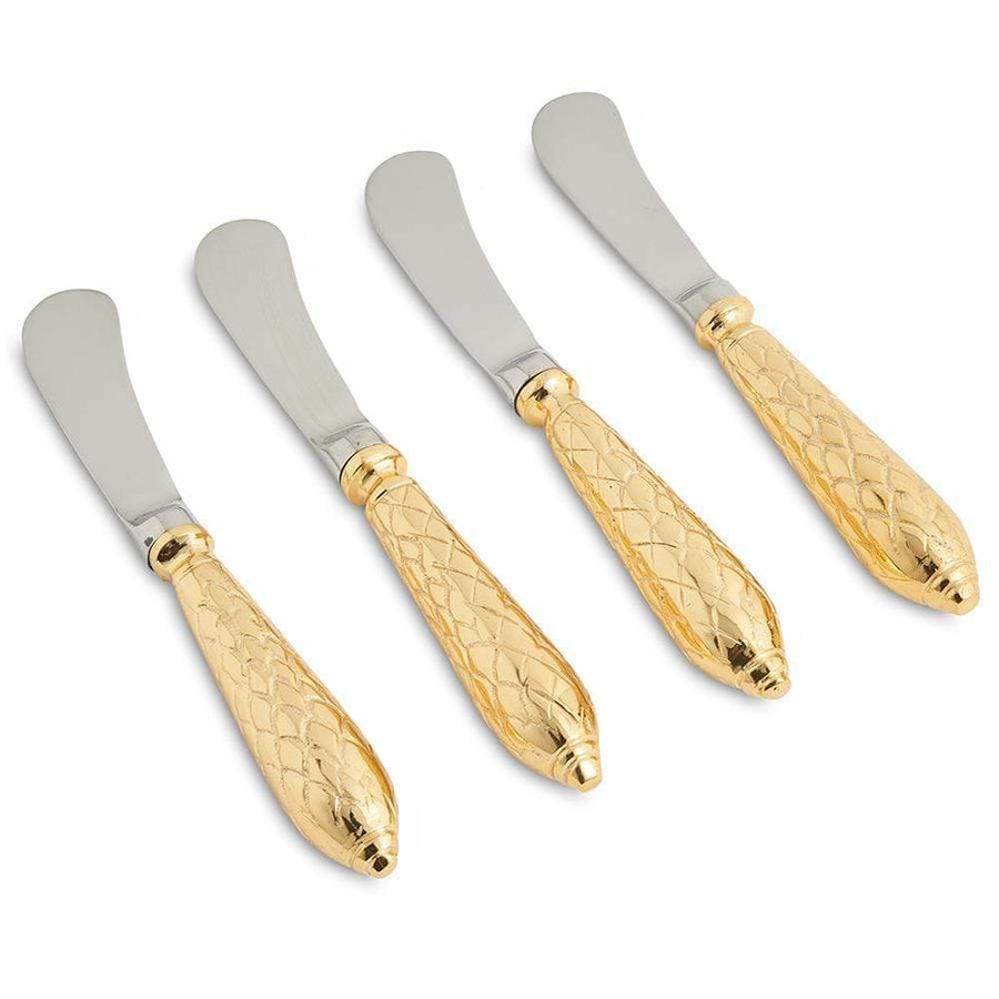 Julia Knight Florentine Spreader Knife in Gold - Set of 4