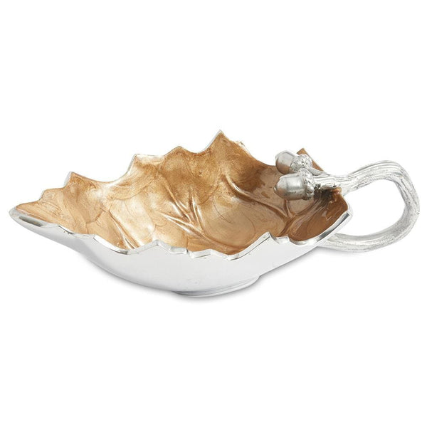 Julia Knight Oak Leaf Sauce Boat in Toffee