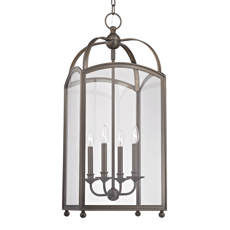 Hudson Valley Lighting Hudson Valley Lighting Millbrook 4-Bulb Chandelier - Distressed Bronze & Clear 8414-DB