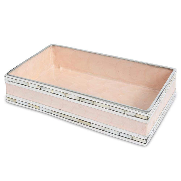 "Classic 9"" Guest Towel Tray in Pink Ice"