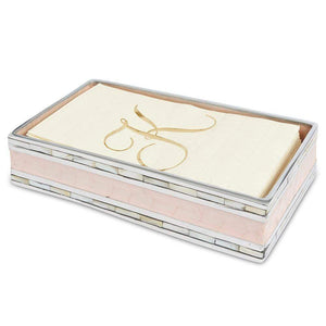 "Julia Knight Classic 9"" Guest Towel Tray in Pink Ice"
