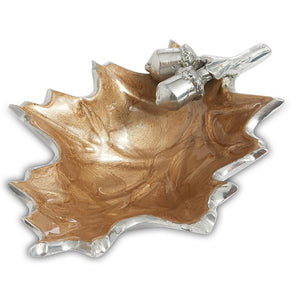 "Julia Knight Oak Leaf 6"" Petite Bowl in Toffee"