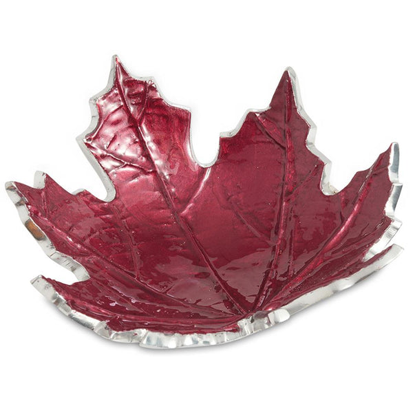 "Julia Knight Maple Leaf 6"" Petite Bowl in Pomegranate"