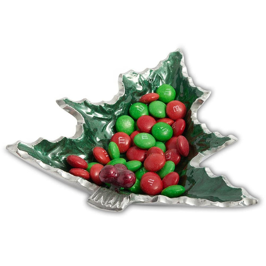 "Holly Sprig 6.25"" Petite Tree Bowl in Emerald"