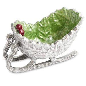 "Julia Knight Holly Sprig 5.5"" Petite Sleigh Bowl in Mojito"