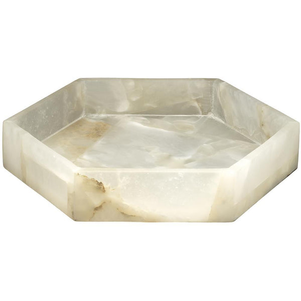 Jamie Young Antonia Small Tray in Alabaster