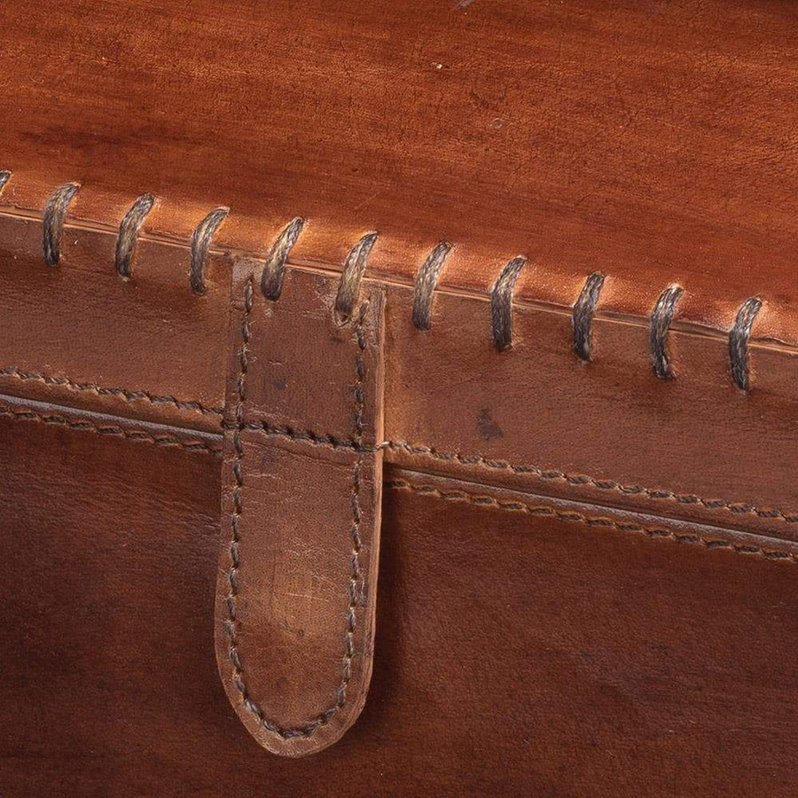 Jamie Young Chester Box in Tobacco Leather