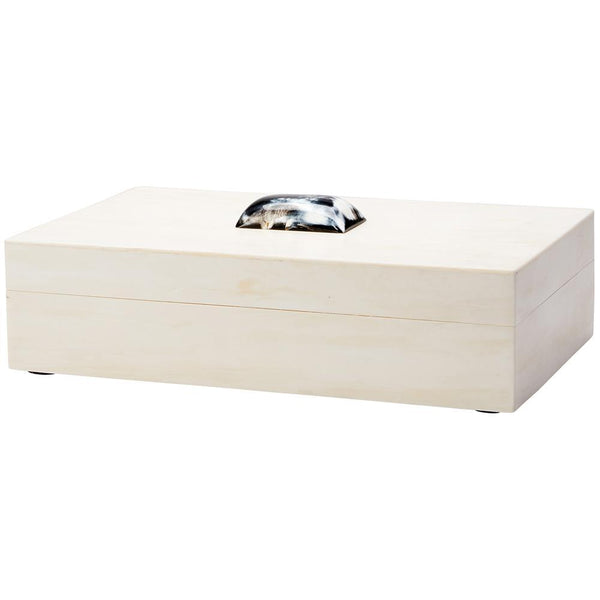 Jamie Young Constantine Large Rectangle Box in Cream Resin