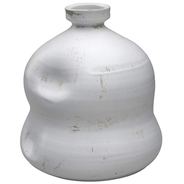 Jamie Young Dimple Jug in Matte White Ceramic