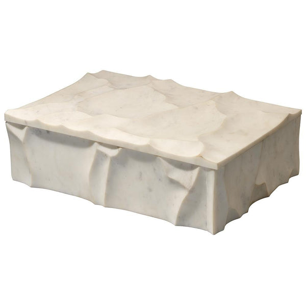 Jamie Young Everest Marble Box in White Marble