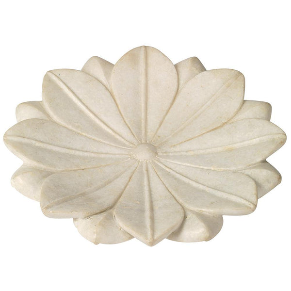 Jamie Young Large Lotus Plate in White Marble