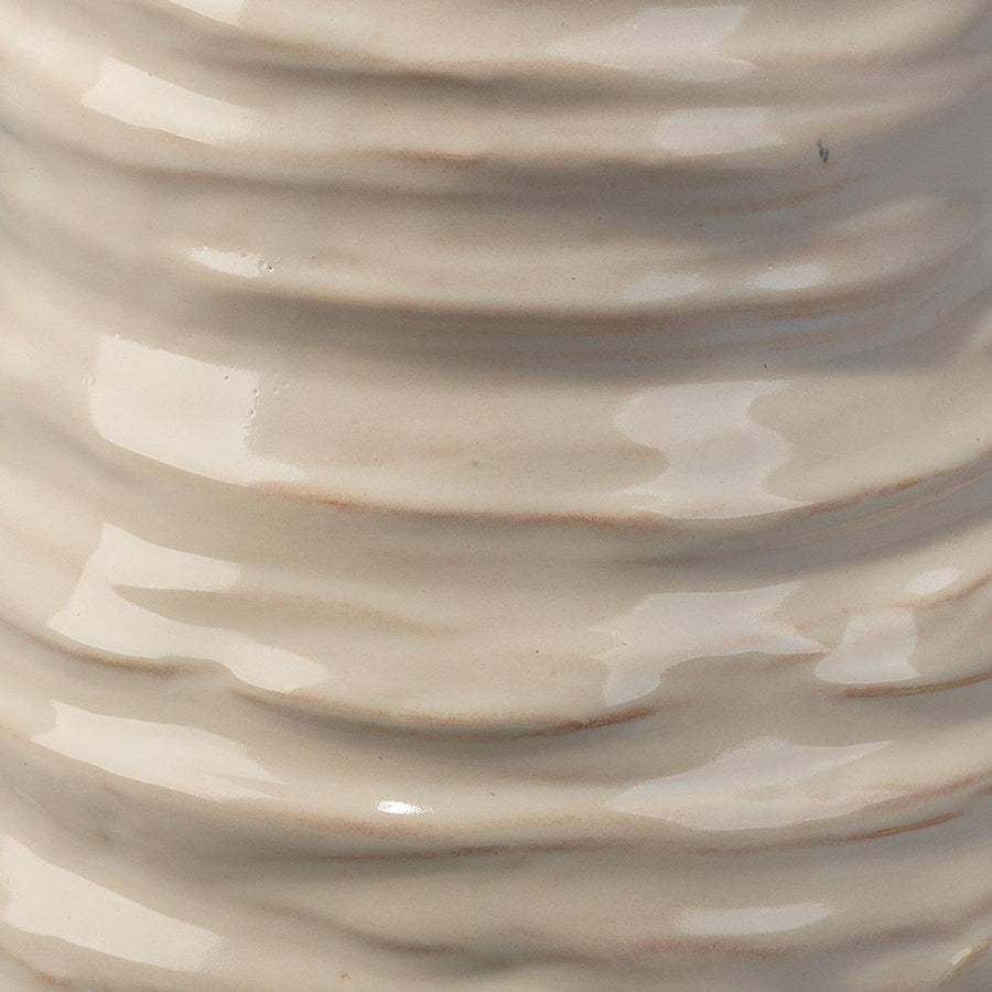 Jamie Young Large Marine Vase in Pearl Cream Ceramic