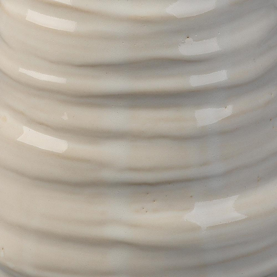 Jamie Young Medium Marine Vase in Pearl Cream Ceramic