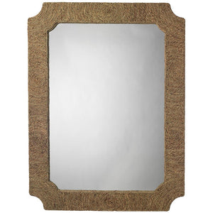 Jamie Young Marina Mirror in Natural Seagrass