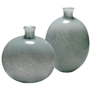 Jamie Young Minx Decorative Vases in Gray Glass - Set Of 2