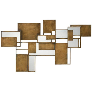 Jamie Young Optic Wall Art Mirror in Antique Brass