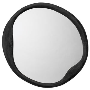 Jamie Young Organic Round Mirror in Antique Iron