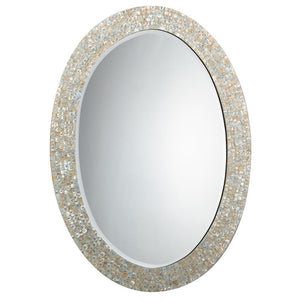Jamie Young Large Oval Mirror in Mother of Pearl