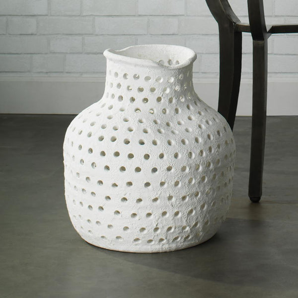 Jamie Young Porous Vase in Matte White