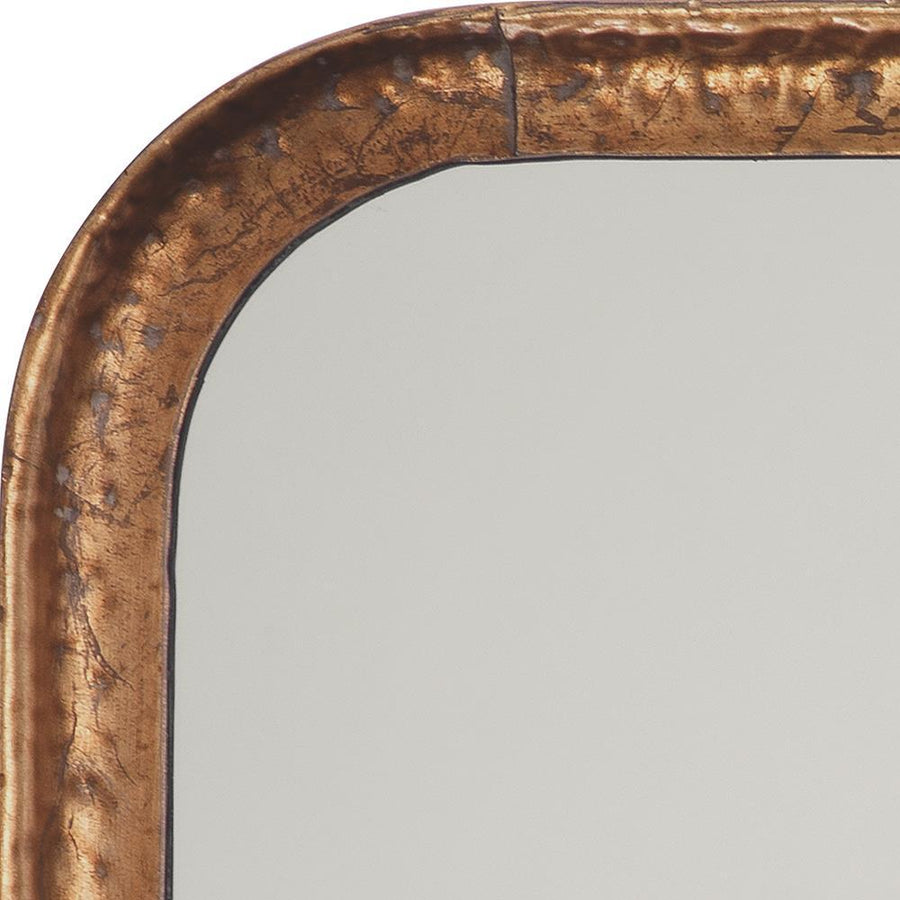 Jamie Young Principle Vanity Mirror in Gold Leaf Metal