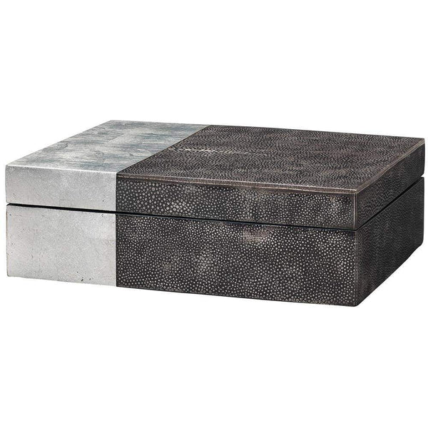 Jamie Young Raymond Box in Black Faux Shagreen