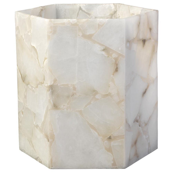 Jamie Young Savannah Large Hexagon Hurricane in Alabaster
