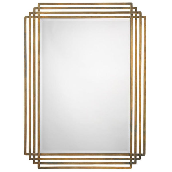 Jamie Young Serai Mirror in Antique Brass
