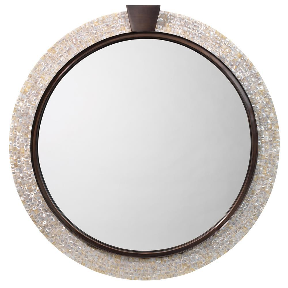 Jamie Young Jamie Young Thea Mirror in Mother of Pearl and Bronze 7THEA-MIMOP