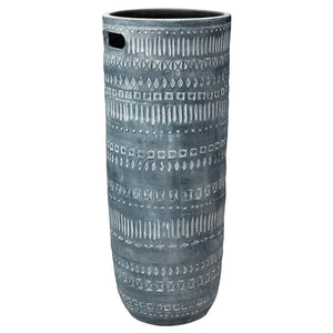 Jamie Young Large Zion Ceramic Vase in Gray and White