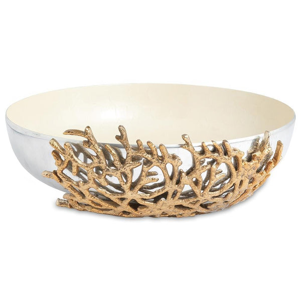 "Coral 15"" Bowl in Snow"