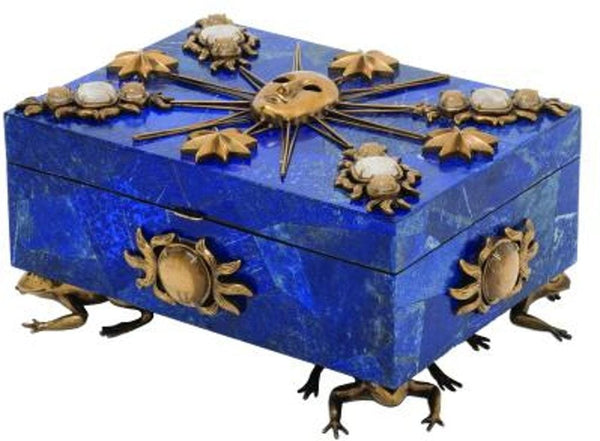 Maitland Smith Roi Soleil Jeweled Box in Blue