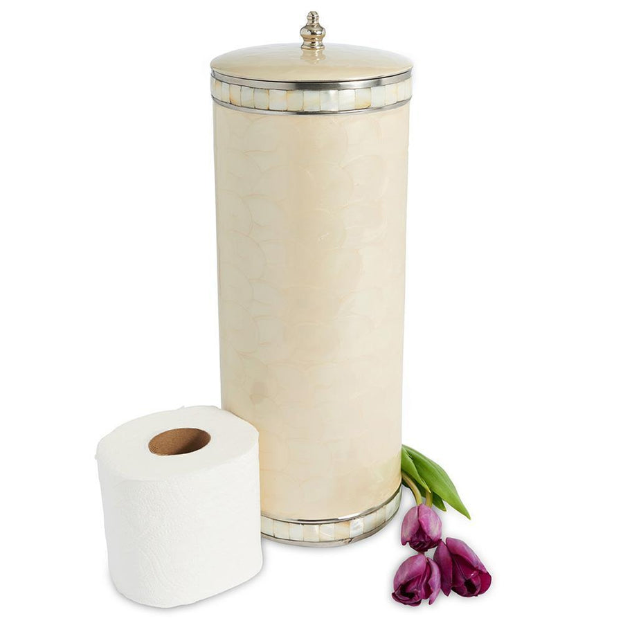 Julia Knight Classic Toilet Tissue Covered Holder in Snow