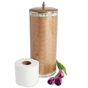 Julia Knight Classic Toilet Tissue Covered Holder in Toffee