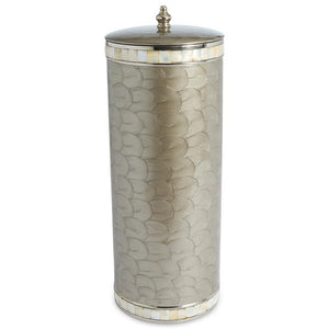Julia Knight Classic Toilet Tissue Covered Holder in Platinum