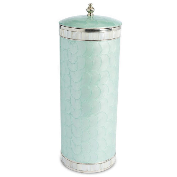 Julia Knight Classic Toilet Tissue Covered Holder in Aqua
