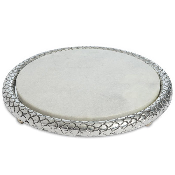 "Julia Knight Florentine 11"" Marble Cheese Tray"