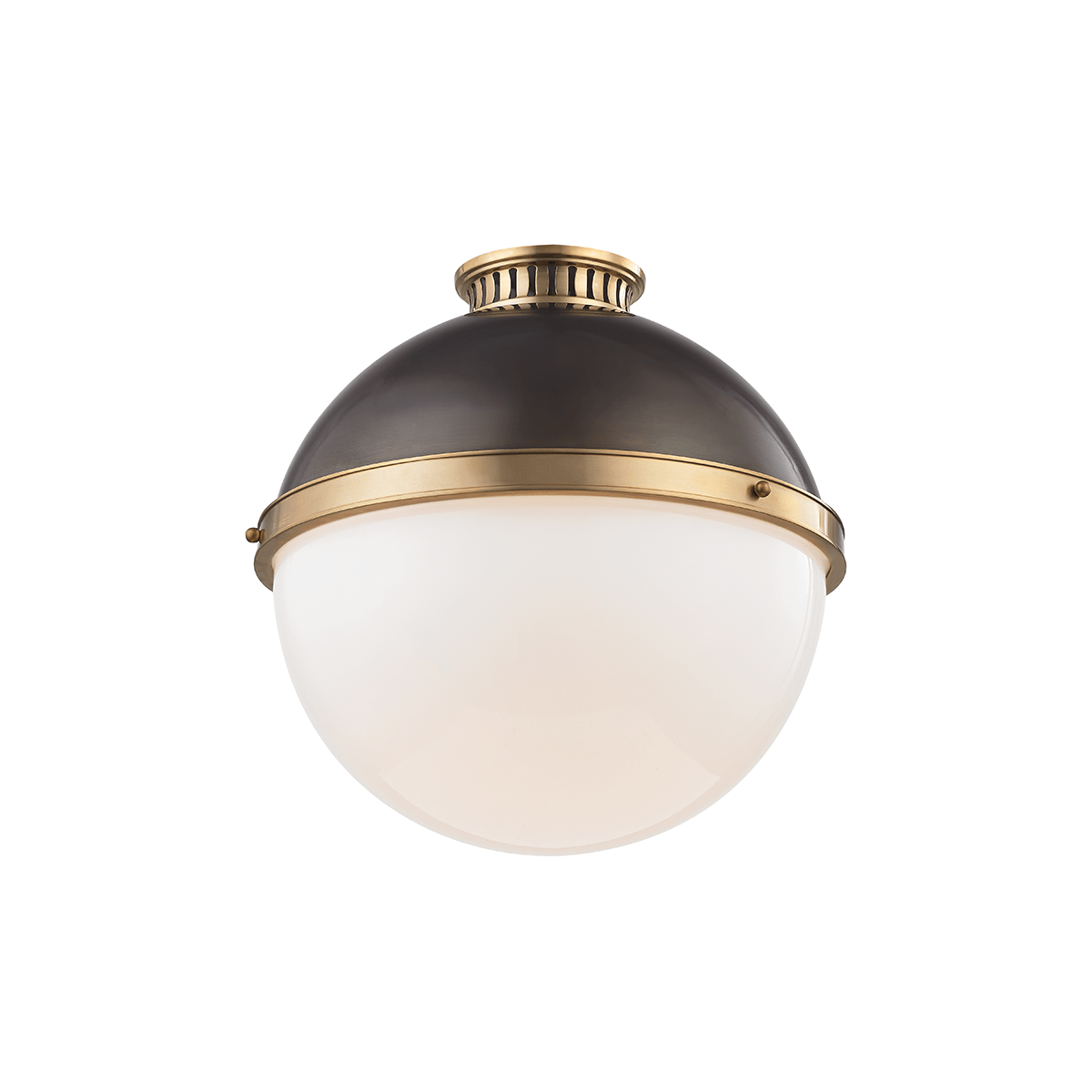 Hudson Valley Lighting Hudson Valley Lighting Latham Ceiling Lamp - Antique Distressed Bronze & Opal Shiny 4015-ADB