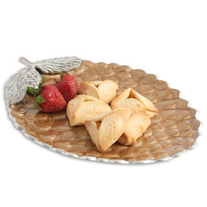"Julia Knight Pine Cone 13"" Platter in Toffee"