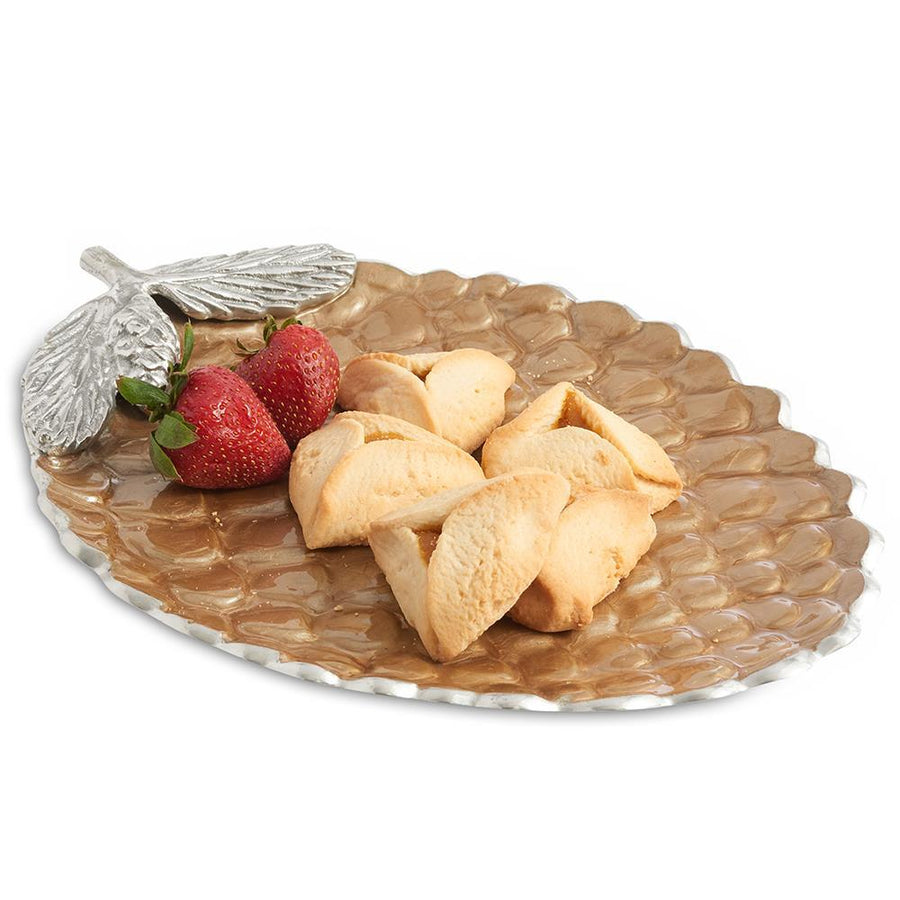 "Pine Cone 13"" Platter in Toffee"