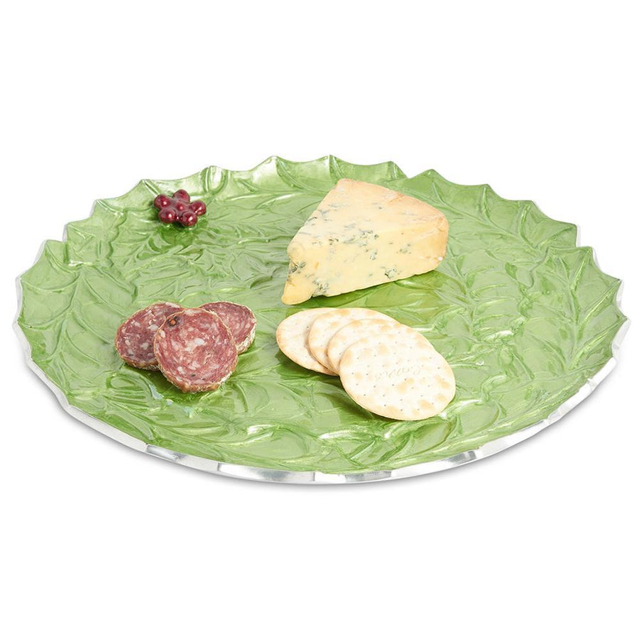 "Julia Knight Holly Sprig 13"" Round Platter in Mojito"