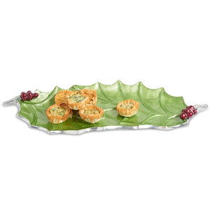 "Julia Knight Holly Sprig 16"" Tray in Mojito"