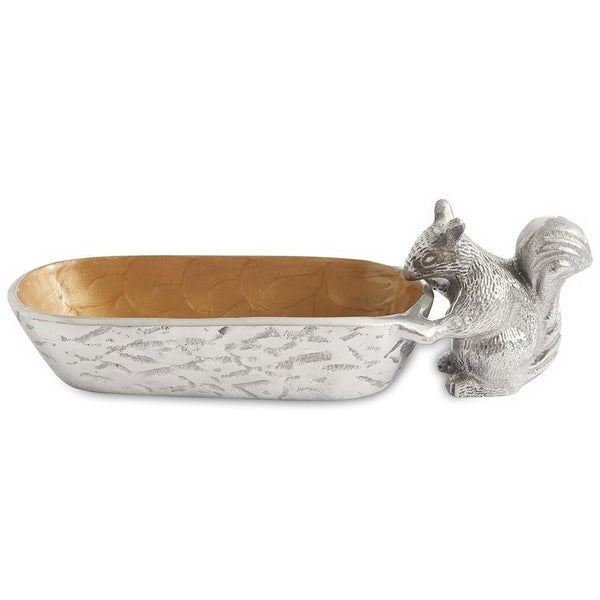 "Julia Knight Squirrel Cracker 9.75"" Tray in Toffee"