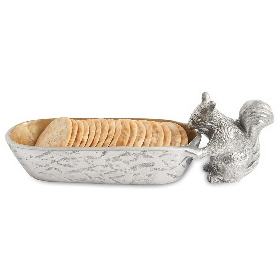 "Squirrel Cracker 9.75"" Tray in Toffee"