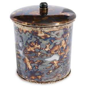 "Julia Knight Julia Knight Cascade 5.5"" Covered Canister - 4 Available Colors Rainbow Bronze 8546800"