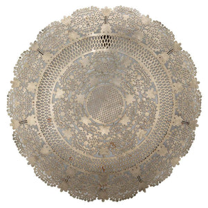 Jamie Young Penelope Lace Wall Art Medallion in Antique Silver